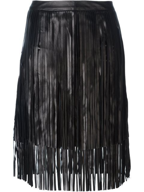 Shop Drome fringed leather skirt  in Elite from the world's best independent boutiques at farfetch.com. Shop 400 boutiques at one address.