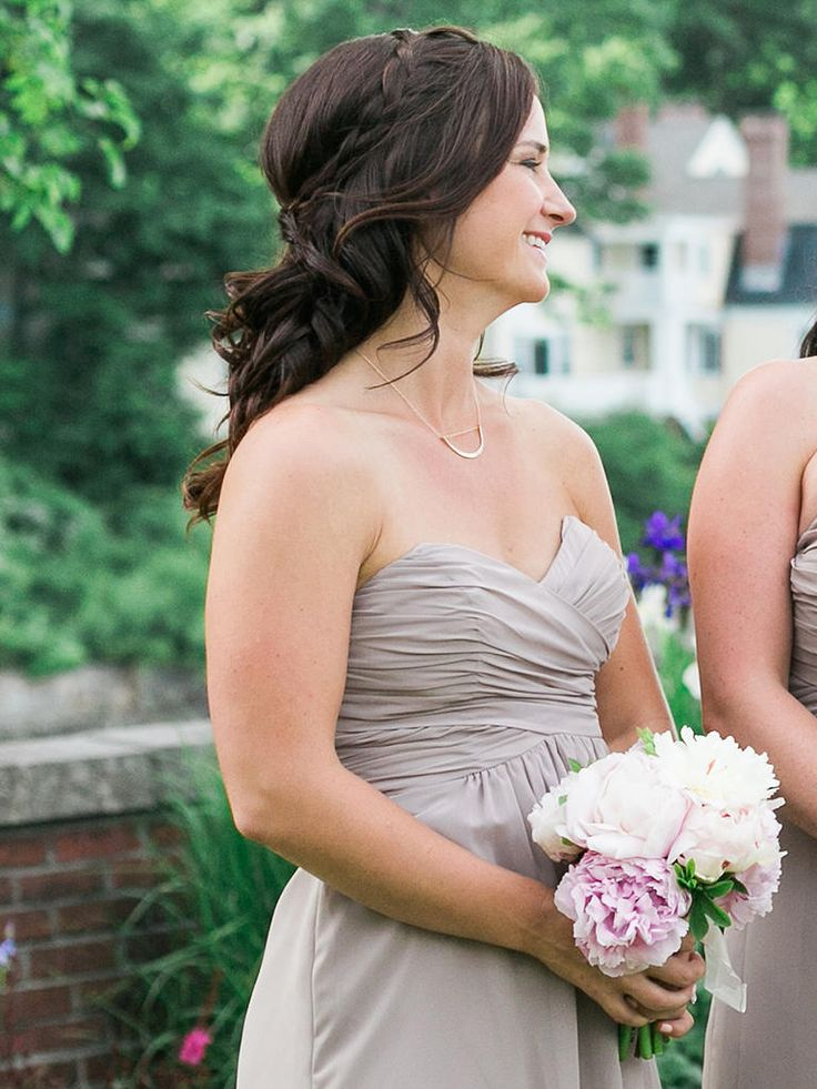 15 Best Bridesmaid Hairstyles For A Strapless Dress
