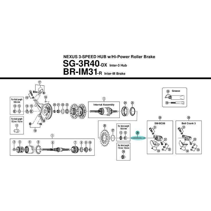 Internal gear hubs accessories :: Shimano Nexus 3 Push Rod [86.85 mm] - Y33S98180