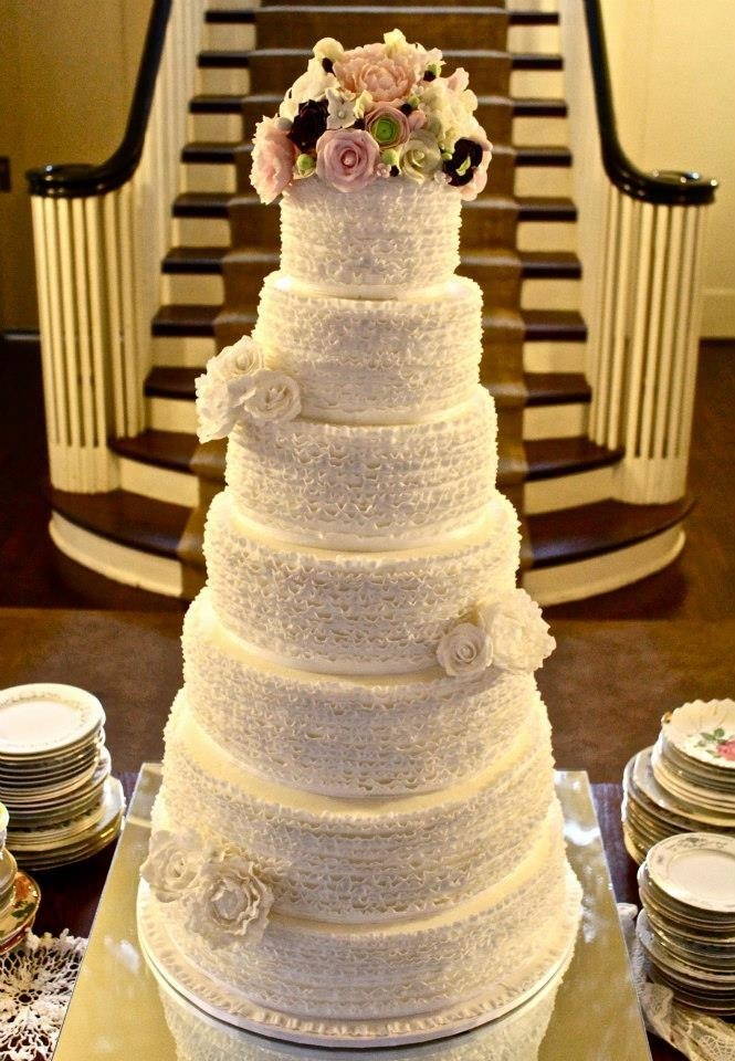 7 tier ruffle wedding cake - Cakes by Kerrin | Beautiful Wedding ...