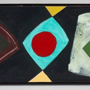John Mclean, 2012 Acrylic with collage, signed verso
