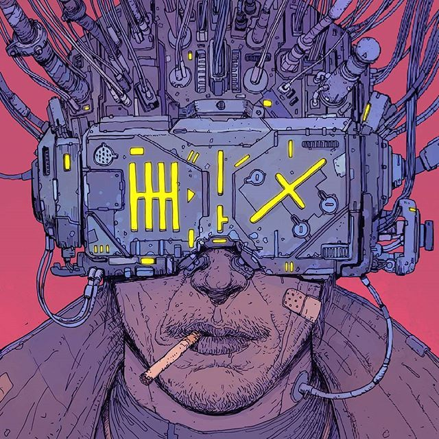 The cover I did for the brazilian edition of Neuromancer, published by Aleph Editora