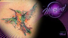 hummingbird watercolor splash abstract bright colorful tattoo artist tat tats ink inked tattoos skin art body sexy flow fit form beauty color watercolor painting tattooing tattooer ta2