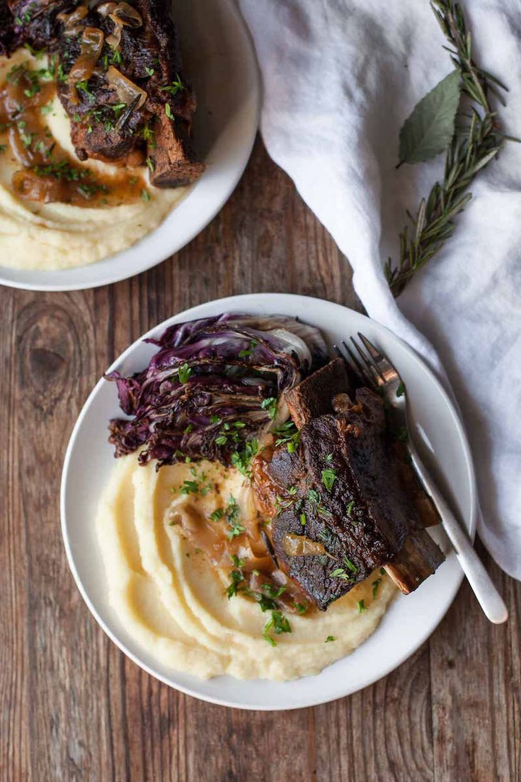 These tender slow-cooker balsamic short ribs are so comforting, with great flavor from the balsamic vinegar and rosemary. Serve them over parsnip puree with a simple vegetable side, like seared radicchio or quickly sautéed kale.