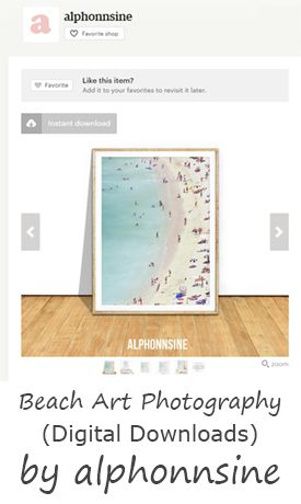 Gray Malin inspired prints for sale on Etsy. Download digital files of aerial beach photography from Alphonnsine