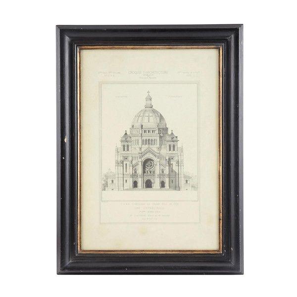 CATHÉDRALE wooden frame in black ...