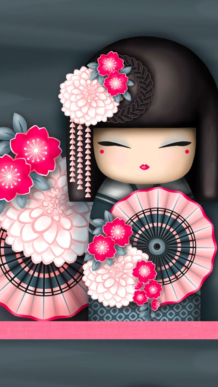 """✿ Kimmidoll ~ """"Kanako"""" 'Flamboyant' ✿ Find more #wallpapers for your #iPhone + #Android @prettywallpaper"""