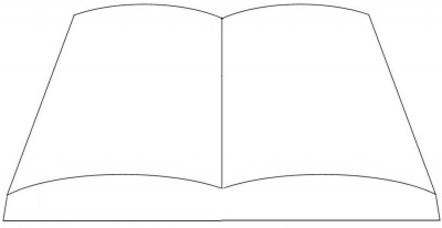 Open book template By Doug on CakeCentral.com