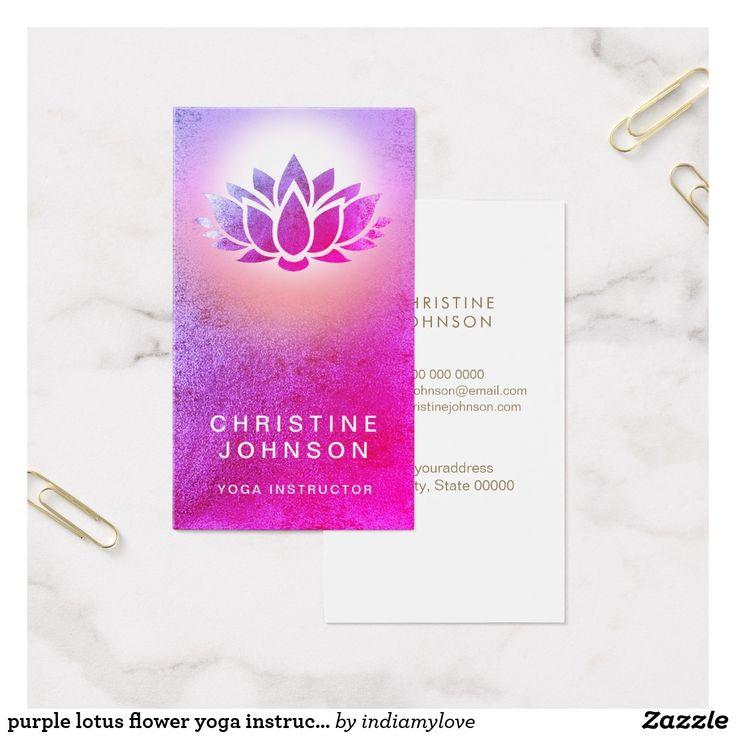 108 best Yoga Instructor Business Cards images on Pinterest