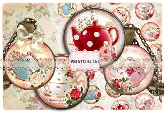Digital Collage Sheet Printable images for Bottle by PrintCollage, $4.40