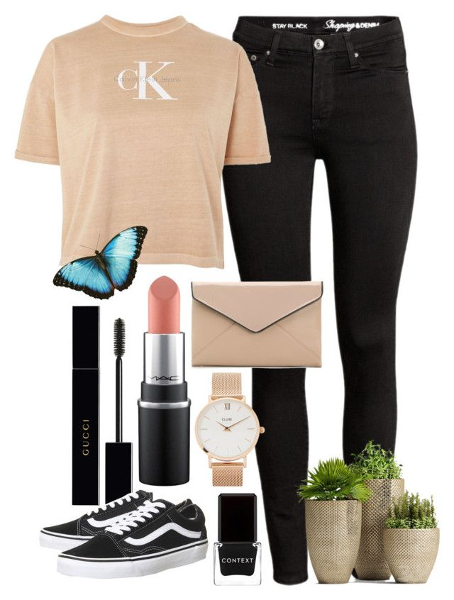 """""""<3"""" by hmastyle on Polyvore featuring Calvin Klein, La Diva, CLUSE, Gucci, Context and Vans"""