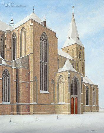 Bovenkerk (Kampen) in de sneeuw By Maarten 't Hart