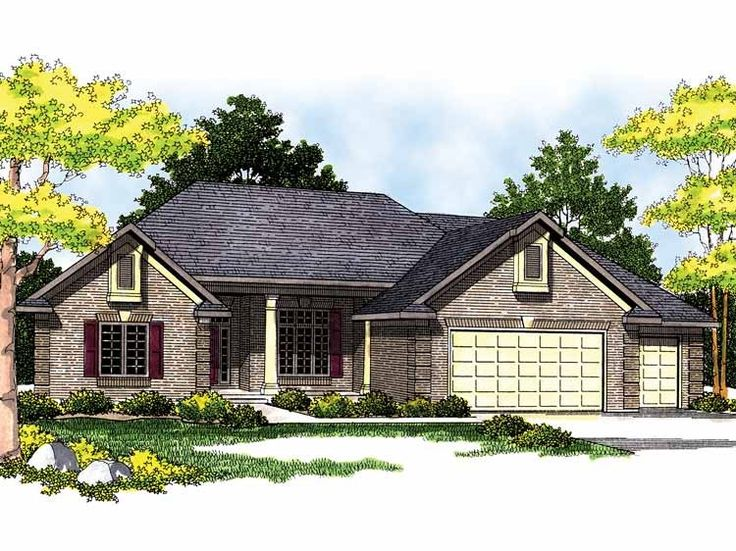 Eplans Ranch House Plan Hip Traditional 2411 Square