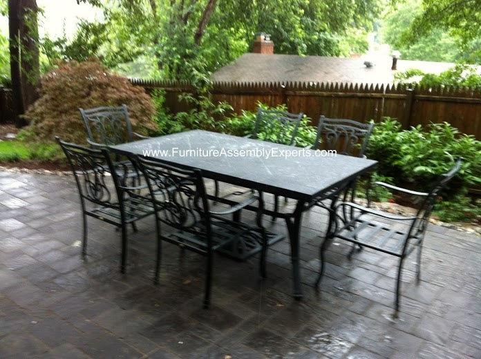Lazy Boy Patio Dining Furniture Set Assembled In Alexandria VA By Furniture  Assembly Experts LLC
