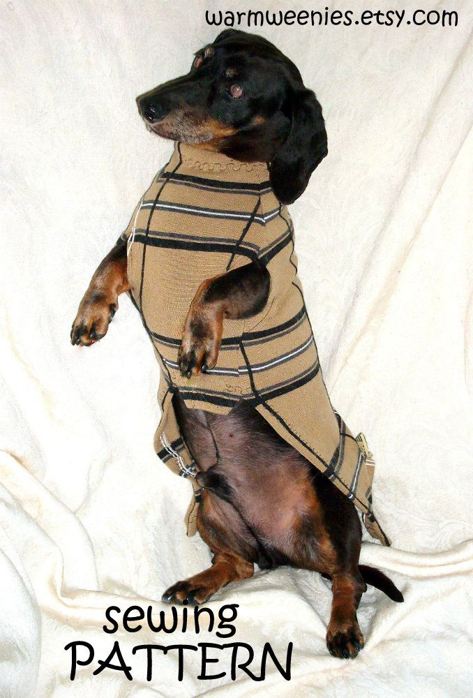 DIY Sewing Pattern Dachshund Sweater & Snood by WarmWeenies, $10.50