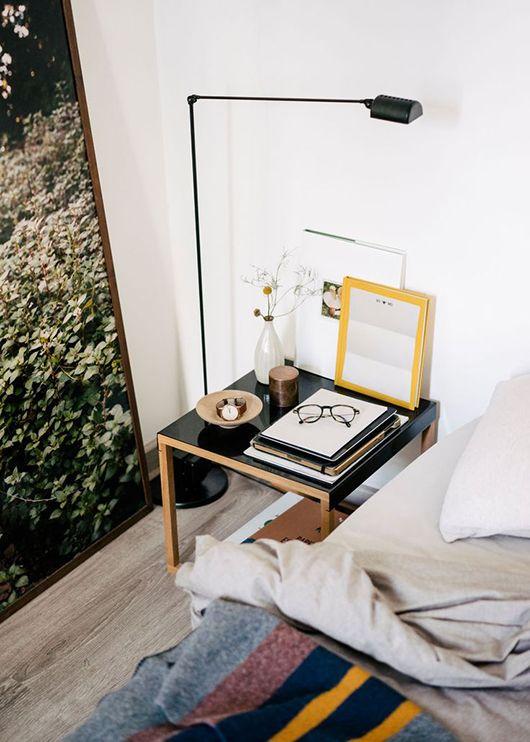 Enkel fornyelse med nytt nattbord.
