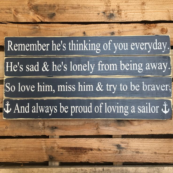Deployment SignLoving A Sailor Military Sign by gracefullyjaded