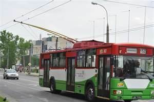 Trolleybus (public transportation), Lublin, Poland.