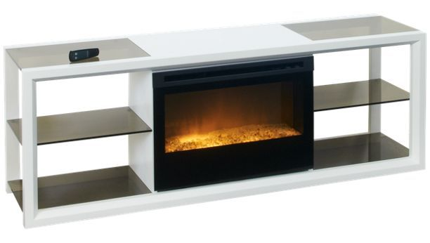 Dimplex-Novara-Novara Fireplace Media Console with Remote - Jordan's Furniture