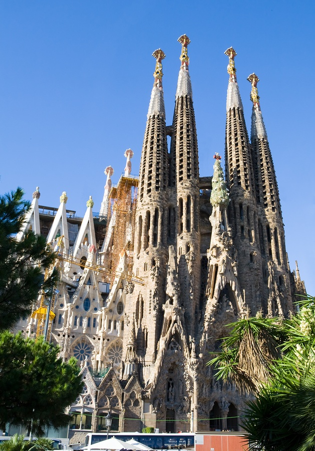Sagrada Familia, Barcelona, Spain  Officially known as the Temple Expiatori de le Sagrada Familia (which when translated into English means Expiatory Church of the Holy Family)