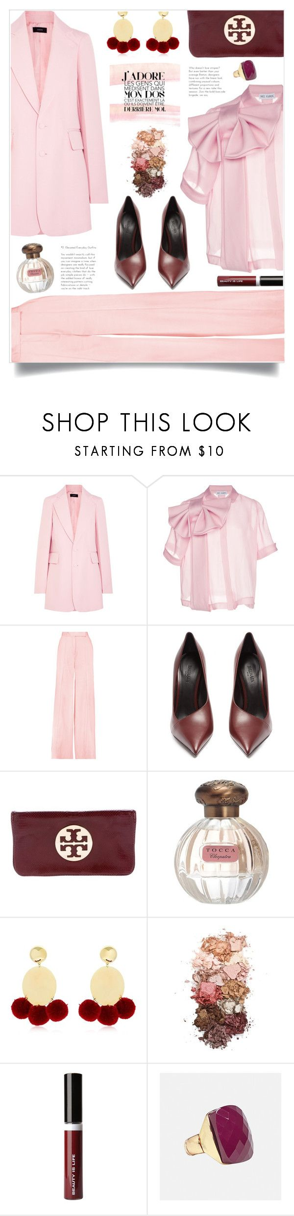 """Oversized Blazers"" by mariamouzaki ❤ liked on Polyvore featuring Joseph, Dice Kayek, Amanda Wakeley, Balmain, Tory Burch, Tocca, Elizabeth and James, Sigma, Beauty Is Life and Avenue"