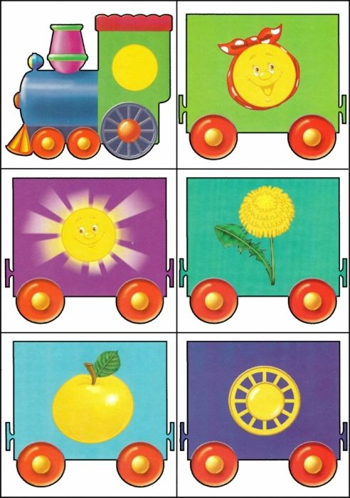 * Kleuren-vormen trein! 10-12