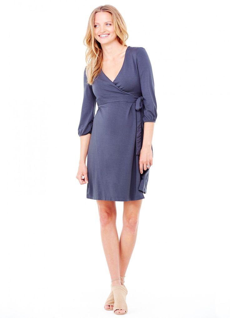 Ingrid & Isabel Maternity 3/4 Sleeve Wrap Dress - Dresses - Shop