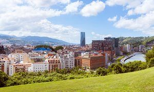 A view of Bilbao from Extebarria Park