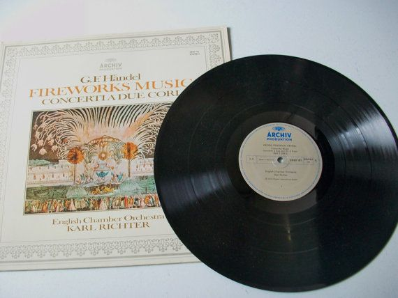 G.F. Handel Fireworks Music Record, Vintage Classical Symphony Music, Concerti a Due Cori, Georg Handel Album