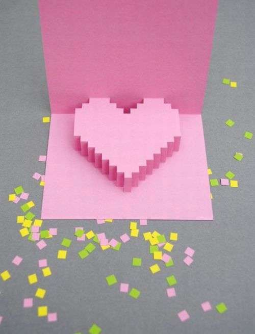 The Valentines Pixelated Popup Card