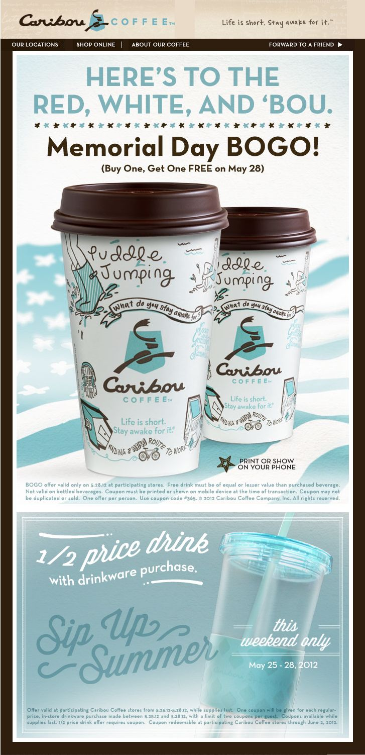Caribou coffee deal caribou coffee