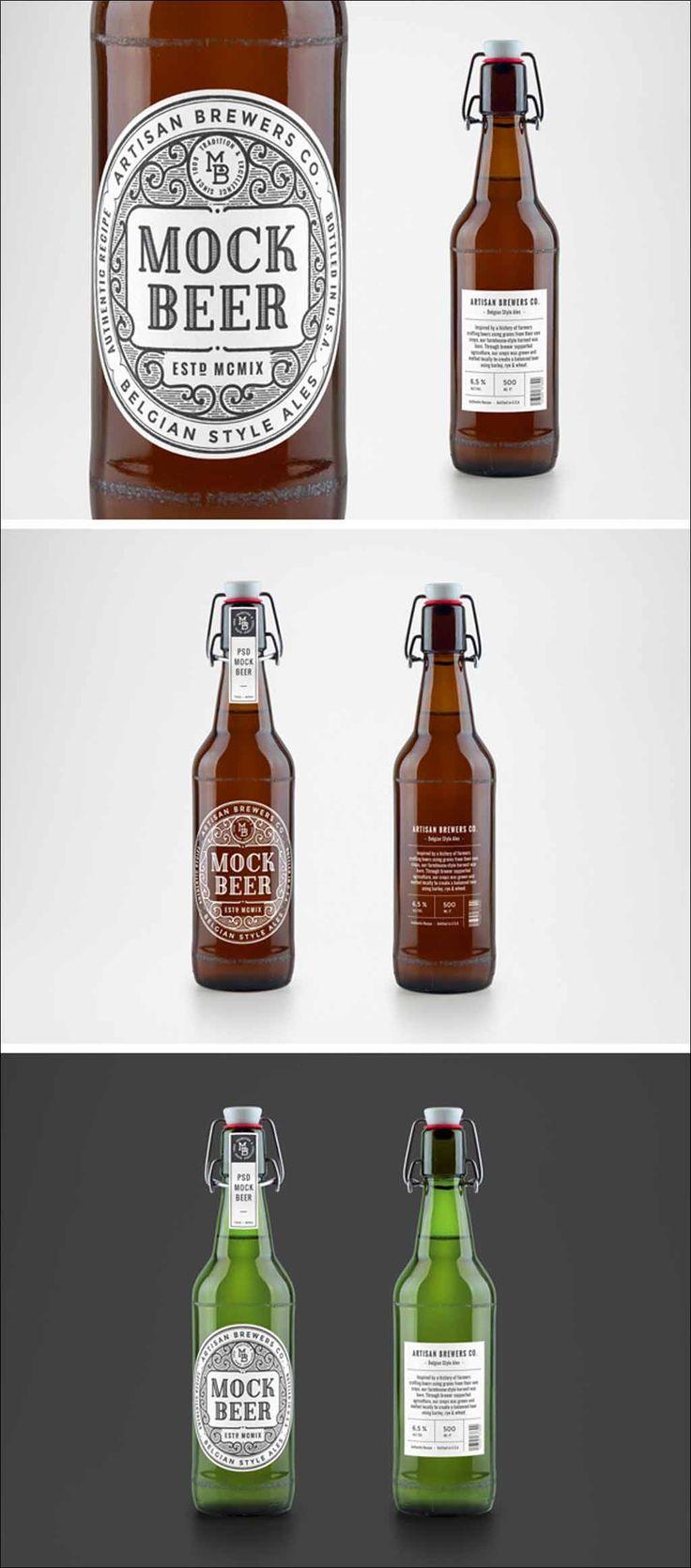 Artisan Beer Bottle Free PSD #Mockup