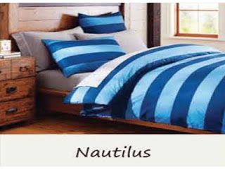 Sprei Lines Motif Nautilus di BediBedi