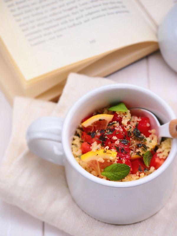 オレガノとトマトのクスクスinマグカップ