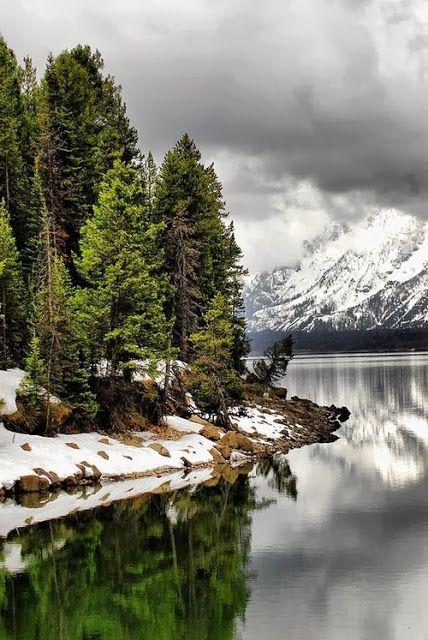 Jackson Lake. Jackson Hole, Wyoming