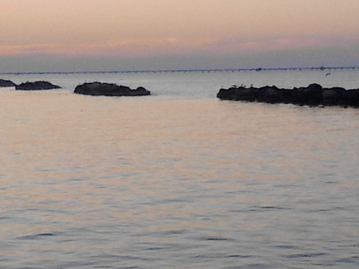 Dusk light on the sea