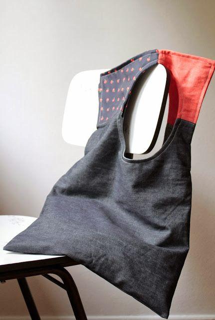 squared circle bag jean bag