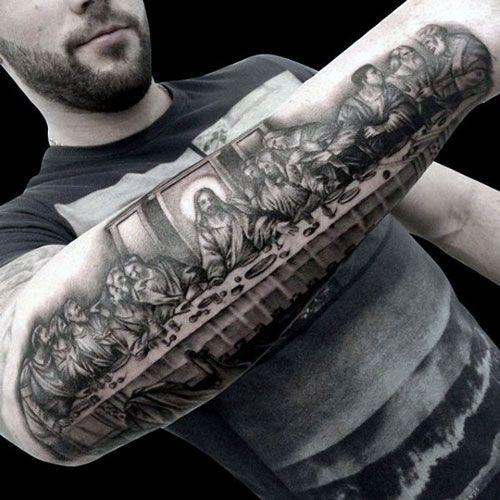 47 Cool Christian Tattoo Ideen für Männer