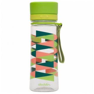 Butelka na napoje plastikowa ALADDIN AVEO ZIELONA Z NADRUKIEM 0,4 l