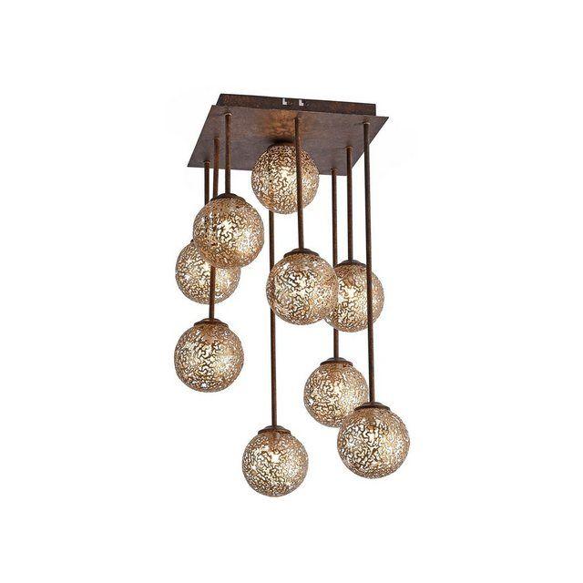 Industrie Stil Pendel Strahler Decken Lampe beton Ess Zimmer Glas Hänge Leuchte
