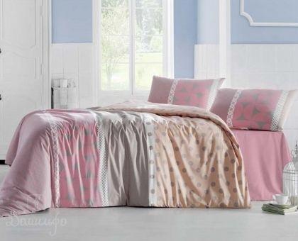 Купить постельное белье ALTINBASAK ALEDA розовое 70х70 1,5-сп от производителя Altinbasak (Турция)