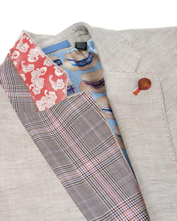 Linen blazer - Natural | Blazers | Ted Baker