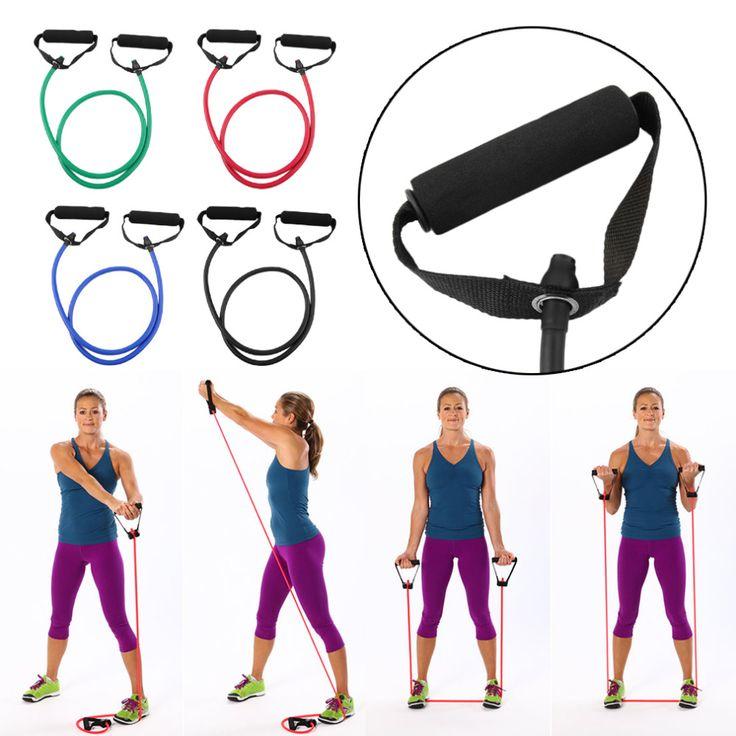 Fitness fascia di resistenza del tubo della fune elastiche di esercitazione per yoga pilates workout spedizione gratuita