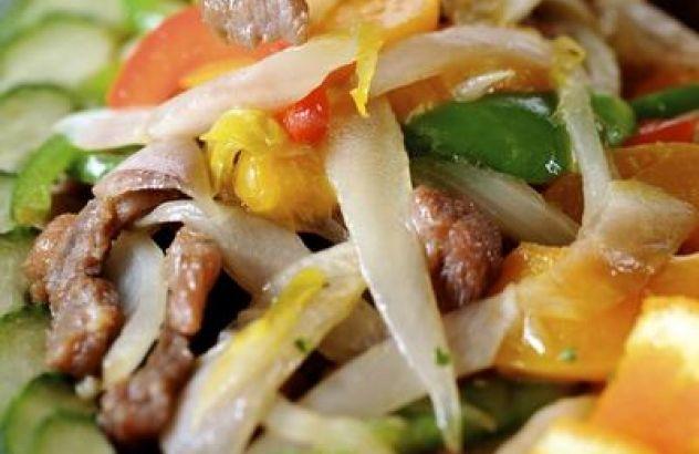 Filet pur en witloof in de wok