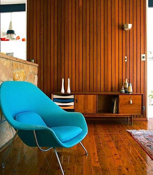 Century Hardwood Flooring century hardwood flooring hardwood flooring Hardwood Panelling Looks So Great With Bright Aqua Mid Century Chairs Like This One