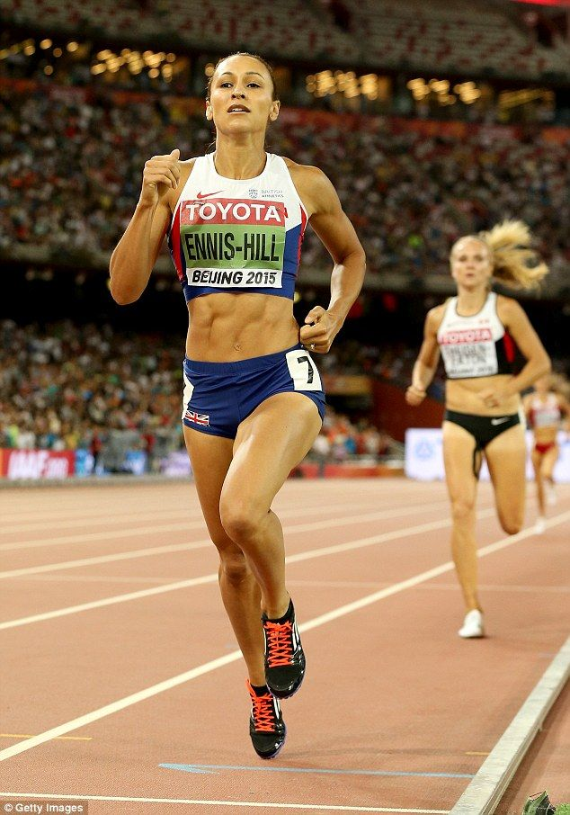 In demand:Team GB's poster girl  has campaigns for Olay, Omega watches and Adidas under her belt (pictured crossing the finish line at…
