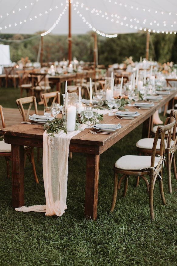 Fall tented wedding reception. Rustic elegant tablescape. Florals by Whimsy Wedd