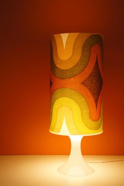 Leuchte °° orig. 70er Stoff °° Lampe Space Age