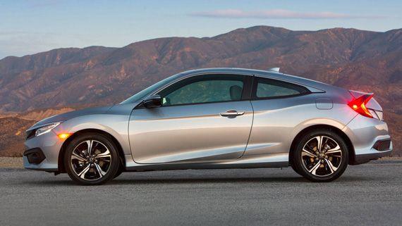 Купе Honda Civic 2016 / Хонда Сивик 2016 – вид сбоку