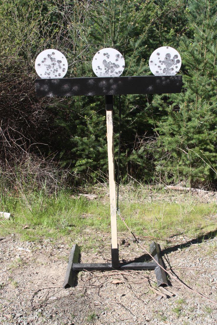 """Rogue Shooting Targets - AR500 Steel shooting target - Junior plate rack, 3/8"""" x 8"""" steel targets. www.rogueshootingtargets.com"""